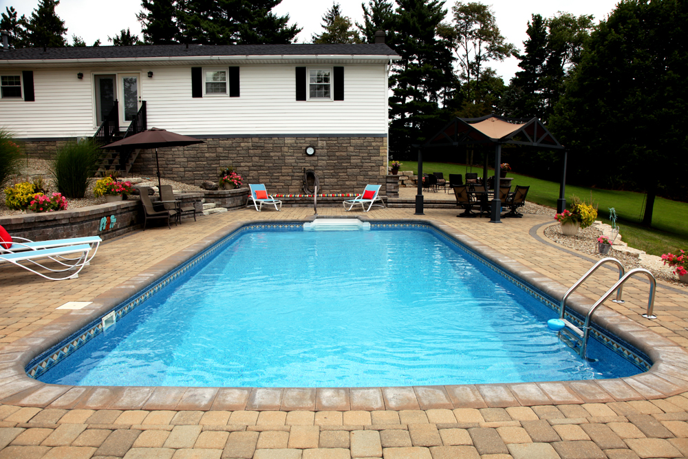 Delectable 20 Pavers Around Inground Pool Decorating Design Of Inground Pool Coping Idea And